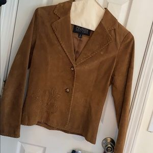Wilson tan suade leather jacket